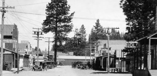 history: Main street Chiloquin in 1926