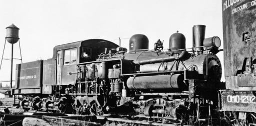 history: Steam engine 1945, Chiloquin Lumber Company