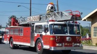 Chiloquin Volunteer Fire Dept. on parade