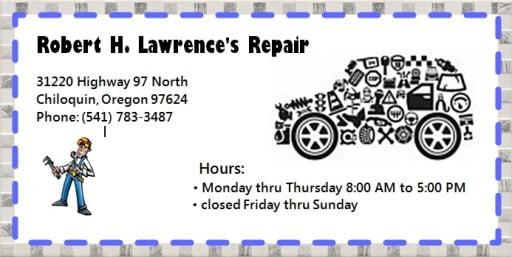Automotive: Robert H. Lawrence Repair, Chiloquin