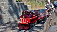 Riding the rails at Train Mountain, Chiloquin