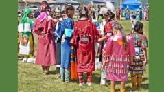Waiting to dance at the Klamath Tribes powwow