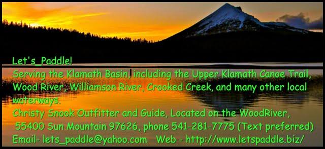Let's Paddle kayak and and canoe rentals, Ft. Klamath, Oregon