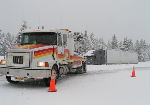 Chiloquin Towing: Missed the road in blinding snow