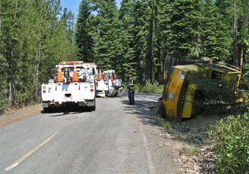 Chiloquin Towing: putting an excavator back on it's tracks