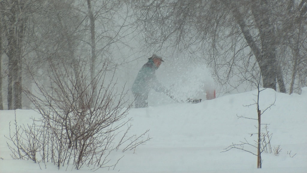 Best to keep up with the snow blowing when a big storm hits!