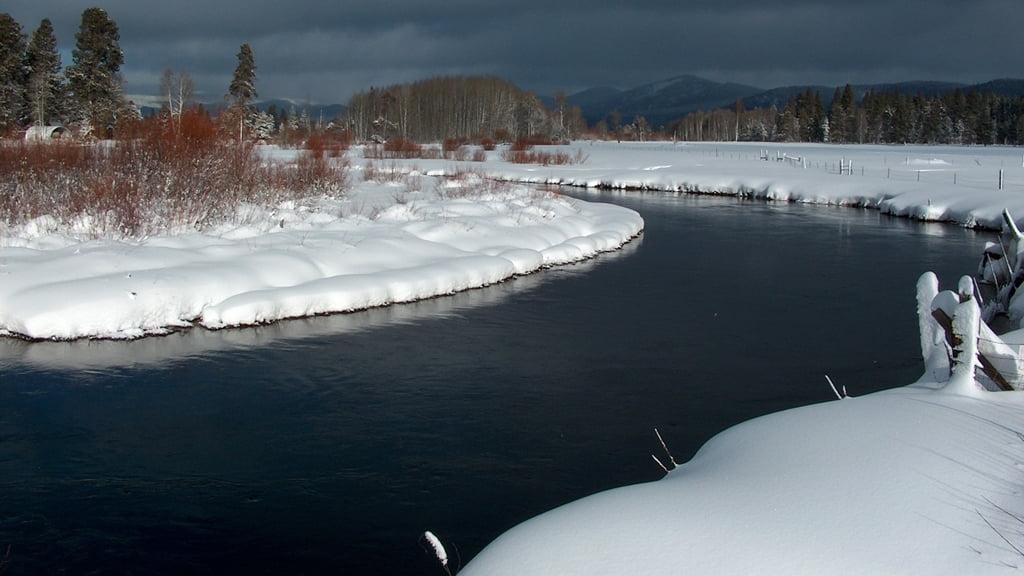 The Wood River in winter, near Ft. Klamath