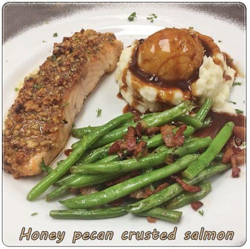 El Rodeo Steak House, Klamath Falls, honey pecan crusted salmon