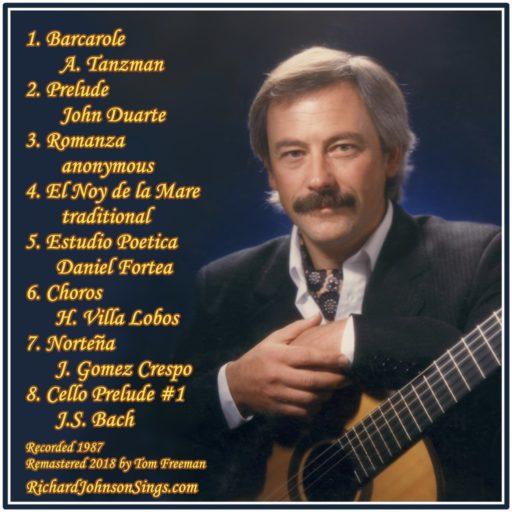 Back CD cover, Richard Johnson Barcarole